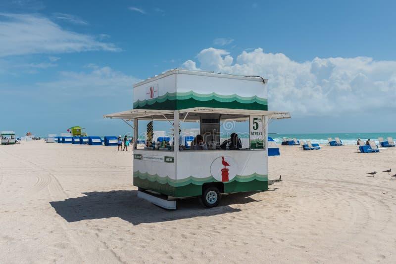 Zuidenstrand in Miami, Florida, de V.S. stock afbeeldingen