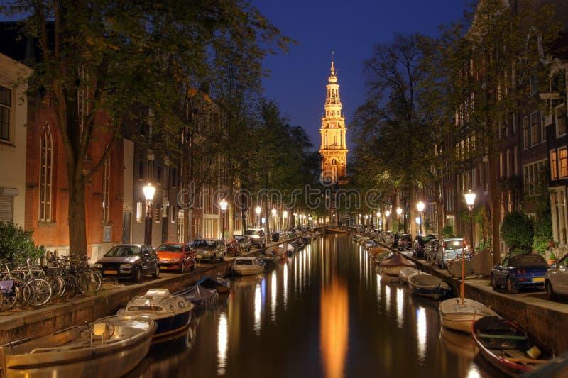 Zuiderkerk en el crepúsculo, Amsterdam, los Países Bajos fotografía de archivo libre de regalías
