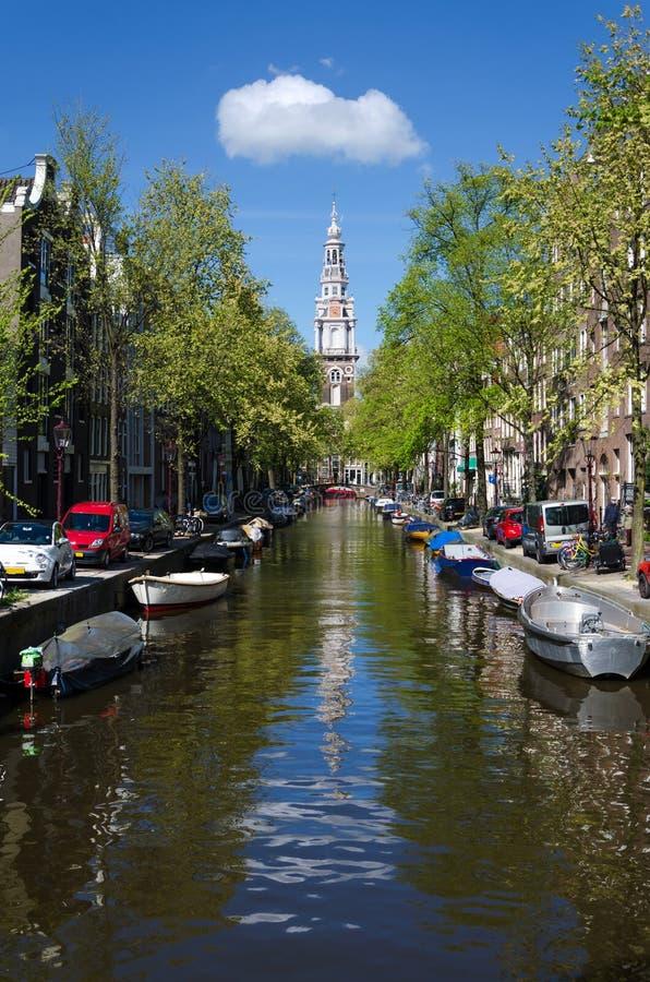 Zuiderkerk (sydlig kyrka) i Amsterdam, Nederländerna royaltyfria foton