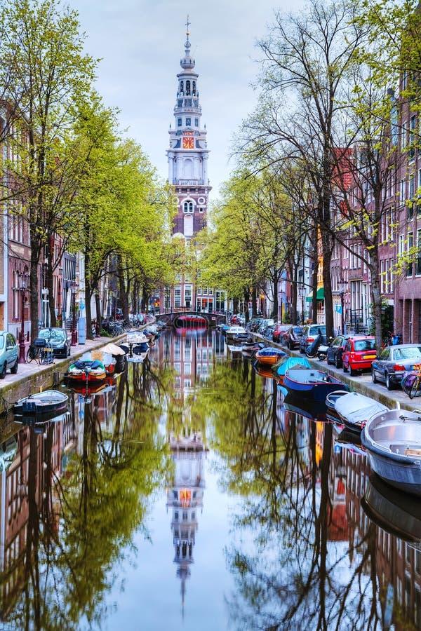 Zuiderkerkkerk in Amsterdam stock foto
