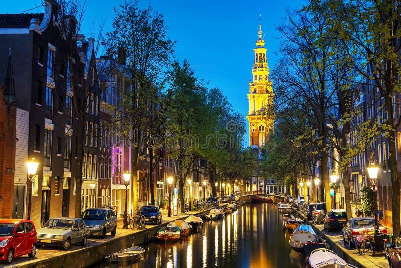 Zuiderkerkkerk in Amsterdam stock fotografie