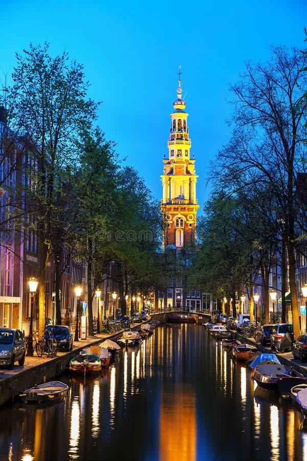 Zuiderkerkkerk in Amsterdam royalty-vrije stock foto's