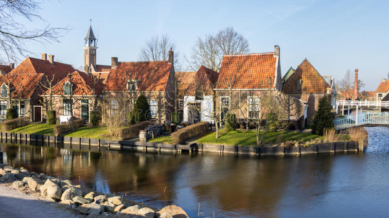 Zuiderzee博物馆恩克赫伊森荷兰 免版税库存照片