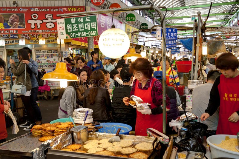 Zuidkoreaanse lokale markt royalty-vrije stock afbeelding