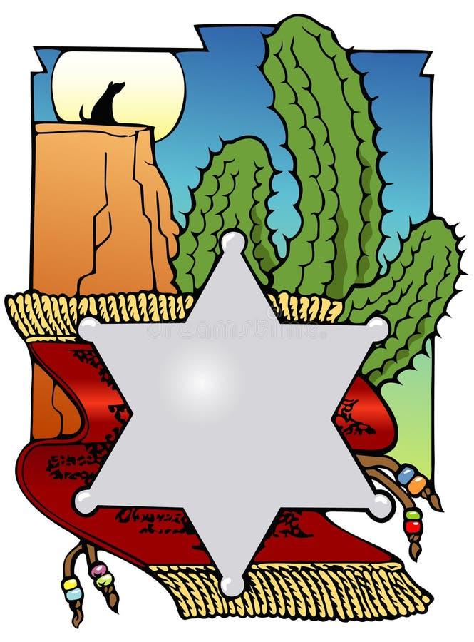 Zuidwesten bookplate royalty-vrije illustratie