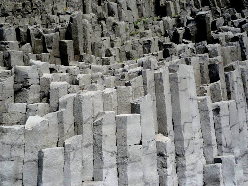 Zuilvormig basalt stock foto