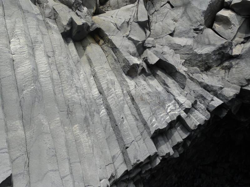Zuilvormig basalt stock foto's