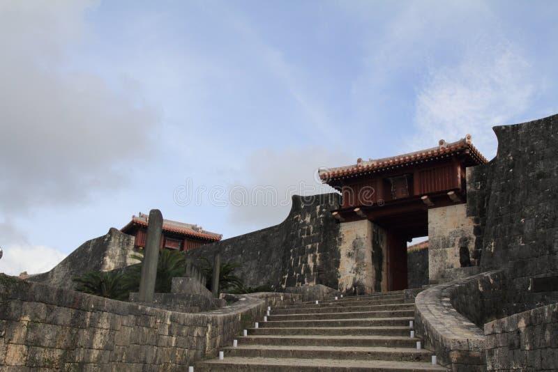 Zuisenmon al castello di Shuri fotografia stock