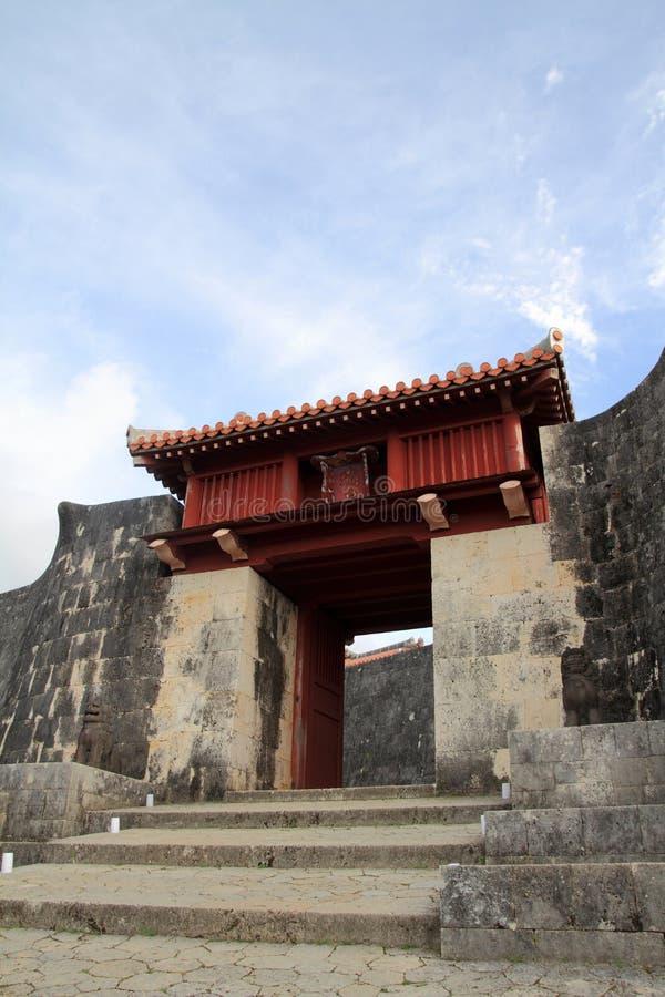 Zuisenmon al castello di Shuri immagine stock libera da diritti