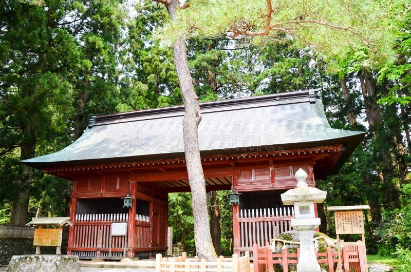 Zuishinpoort in Dewasanzan-Heiligdom, Yamagata, Japan stock afbeelding