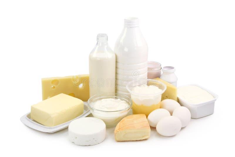 Zuivel producten en eieren royalty-vrije stock foto