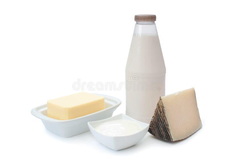 Zuivelproducten stock afbeelding