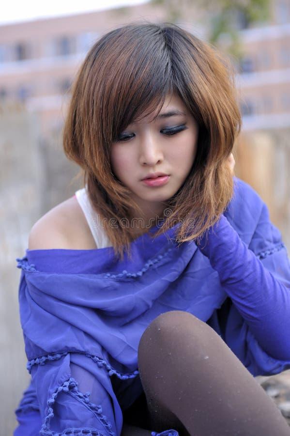 Zuiver Mooi Aziatisch Meisje royalty-vrije stock foto's