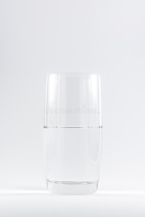Zuiver Schoon Glas van Witte Achtergrond N van Water de Eenvoudige Minimalistic royalty-vrije stock foto