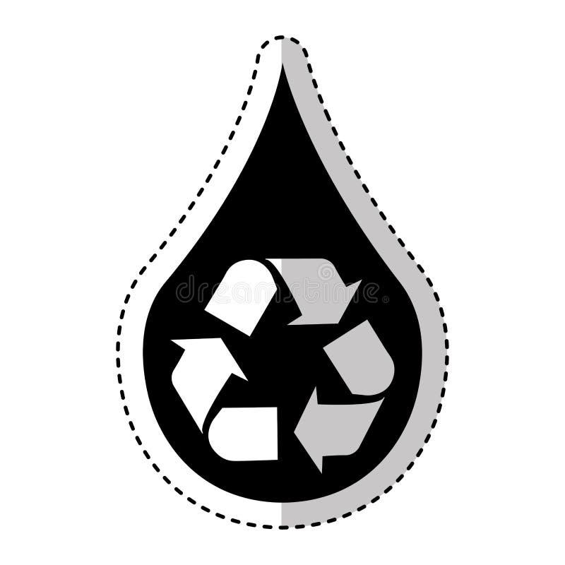 Zuiver water met kringloopsymbool stock illustratie