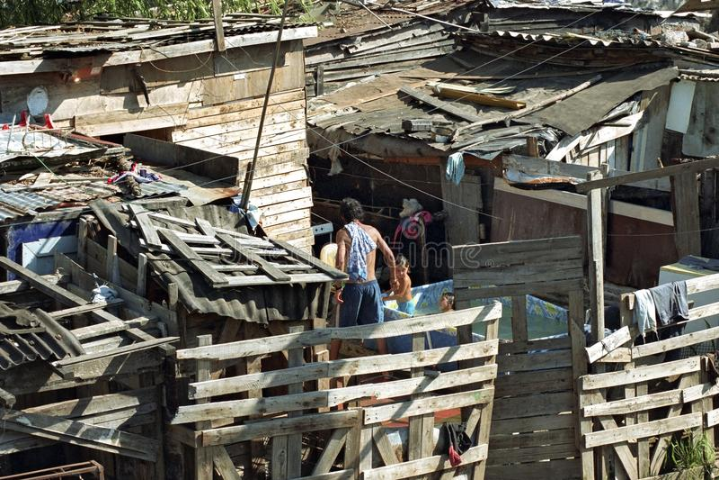 Zuivere Argentijnse armoede in Cava krottenwijk van La stock fotografie