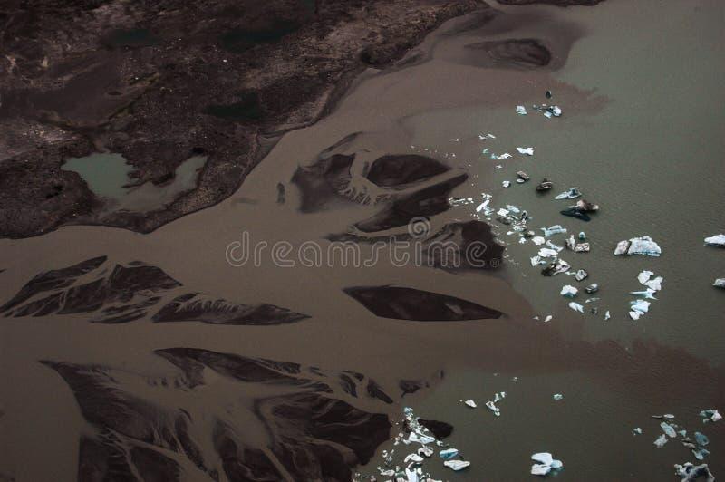 Zuivere gletsjer in Alaska royalty-vrije stock afbeeldingen