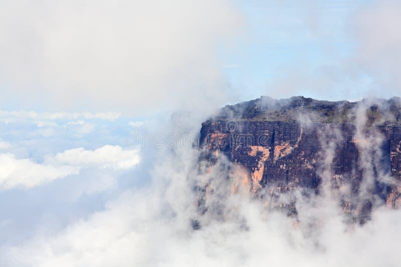 Zuivere klippen van Onderstel Roraima stock foto