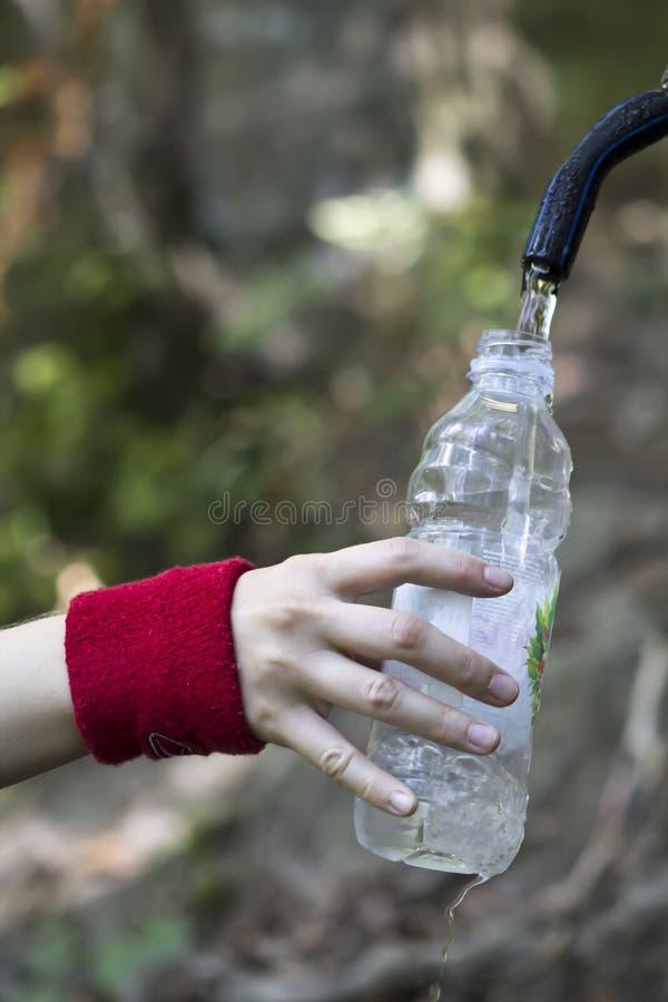 Zuivere natuurlijke waterbron stock afbeelding