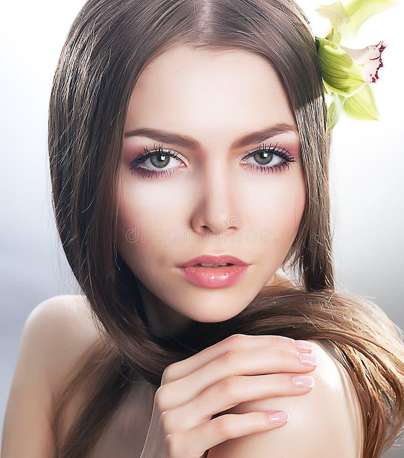 Zuiverheid en sexiness - de schoonheidsconcept van de huidzorg royalty-vrije stock foto