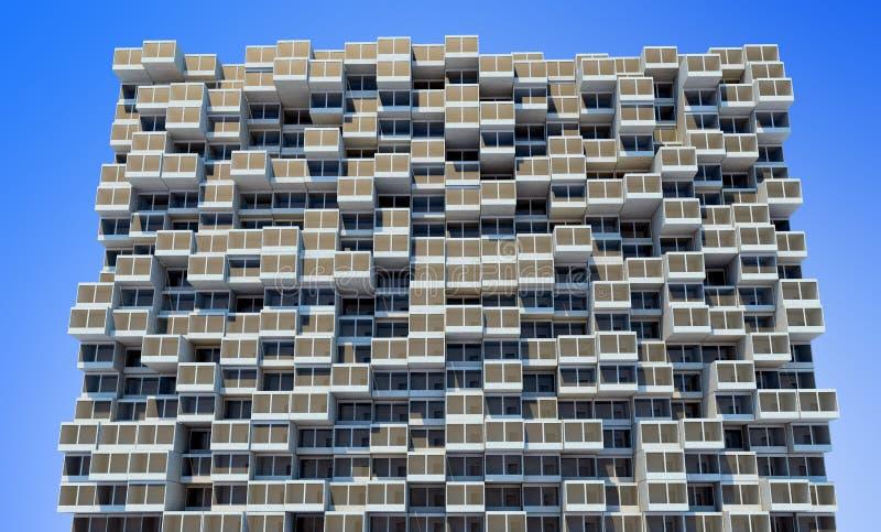 Zukünftige Architektur Futuristisches Gebäude Modernes Gebäude Zukünftiges Konzept vektor abbildung