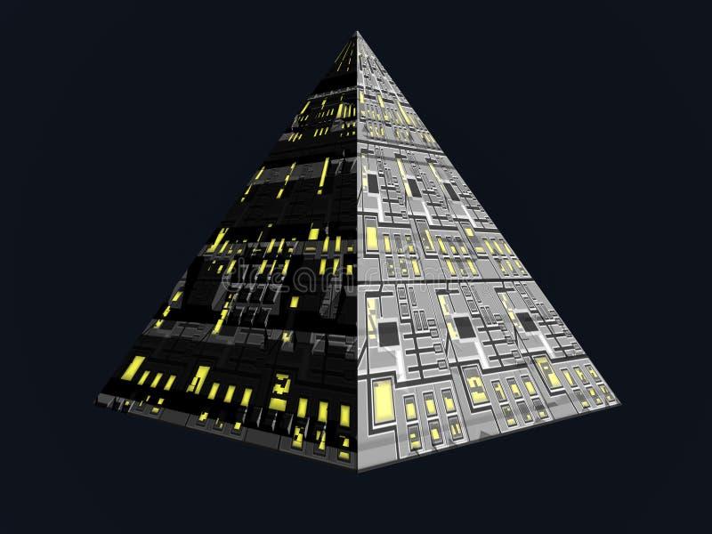 Zukünftige Pyramide stock abbildung