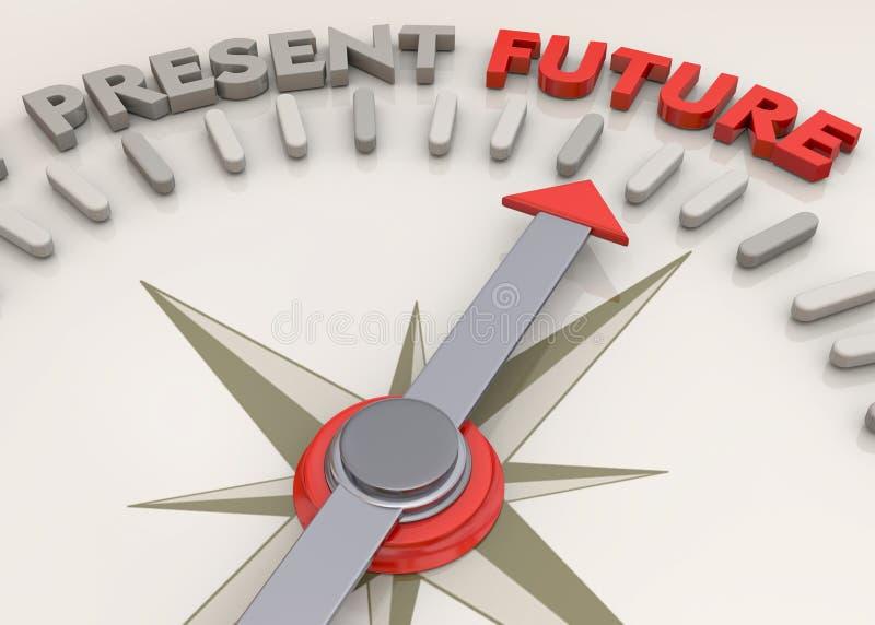 Zukünftige Richtung - 3D stock abbildung