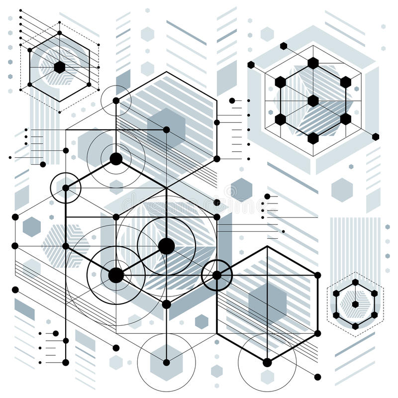 Zukünftige Technologievektorzeichnung, industrielle Tapete graphik lizenzfreie abbildung