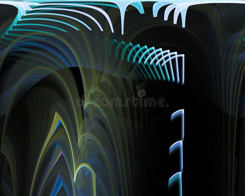 Zukünftiger dynamischer digitaler Fractal Bewegung der Zusammenfassung, Flussplakatgeheimnisentwurfs-Fantasiehintergrund, Grafik lizenzfreie stockbilder