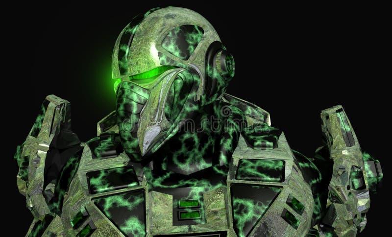 Zukünftiger Soldat stock abbildung
