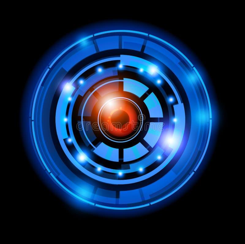 Zukünftiger Technologie-Hintergrund stock abbildung