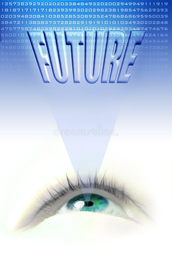 Zukünftiges Auge stock abbildung