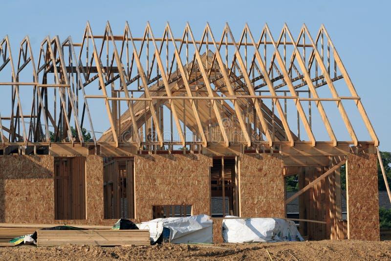 Zukünftiges Haus stockbilder