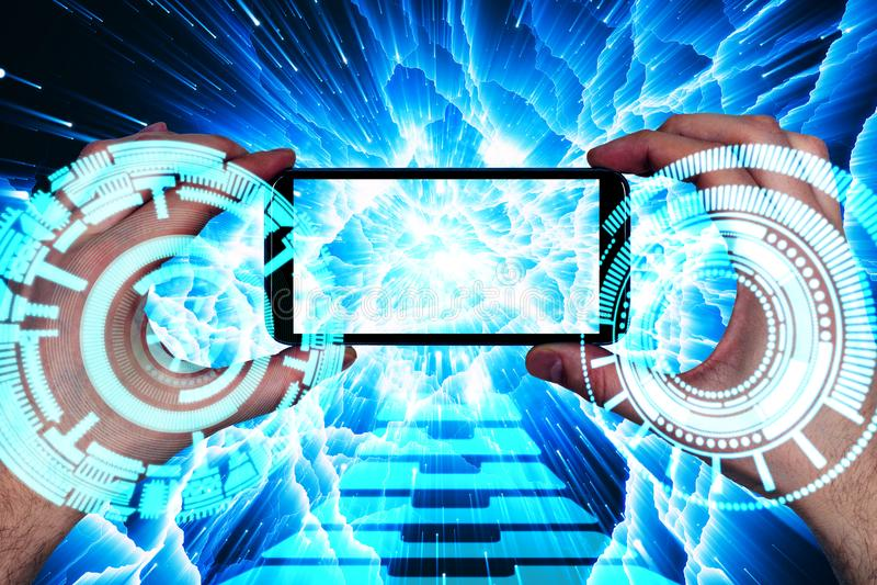 Zukünftiges Konzept lizenzfreie stockfotografie