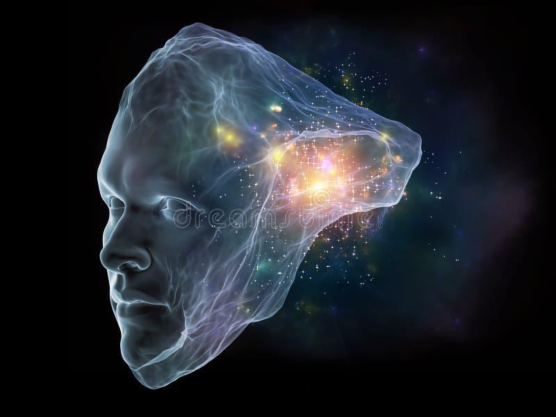 Zukunft des Intellekts lizenzfreie abbildung