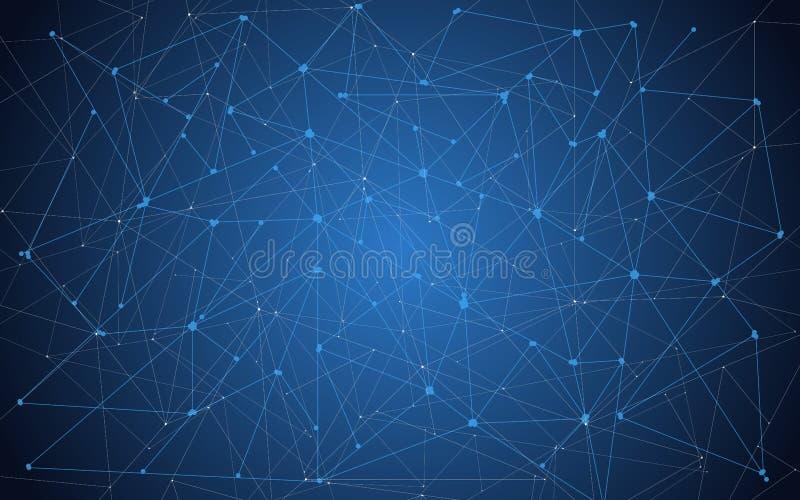 Zukunft, geometrischer Technologiehintergrund Blauer Farbton Auch im corel abgehobenen Betrag ENV 10 lizenzfreie abbildung