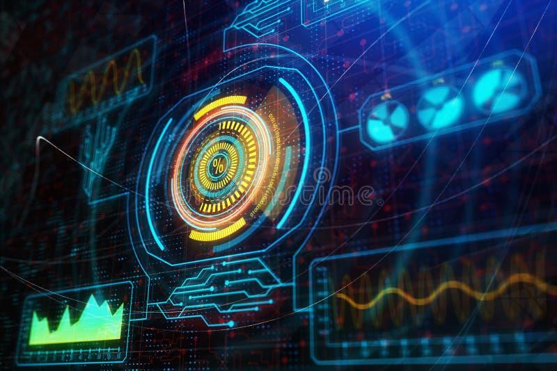 Zukunft-, Innovations- und Analytikkonzept stock abbildung