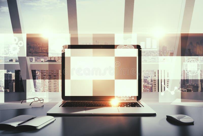 Zukunft und Werbekonzeption lizenzfreie abbildung