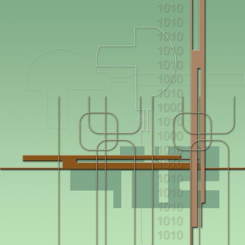 Zukunftsroman-Hintergrund vektor abbildung