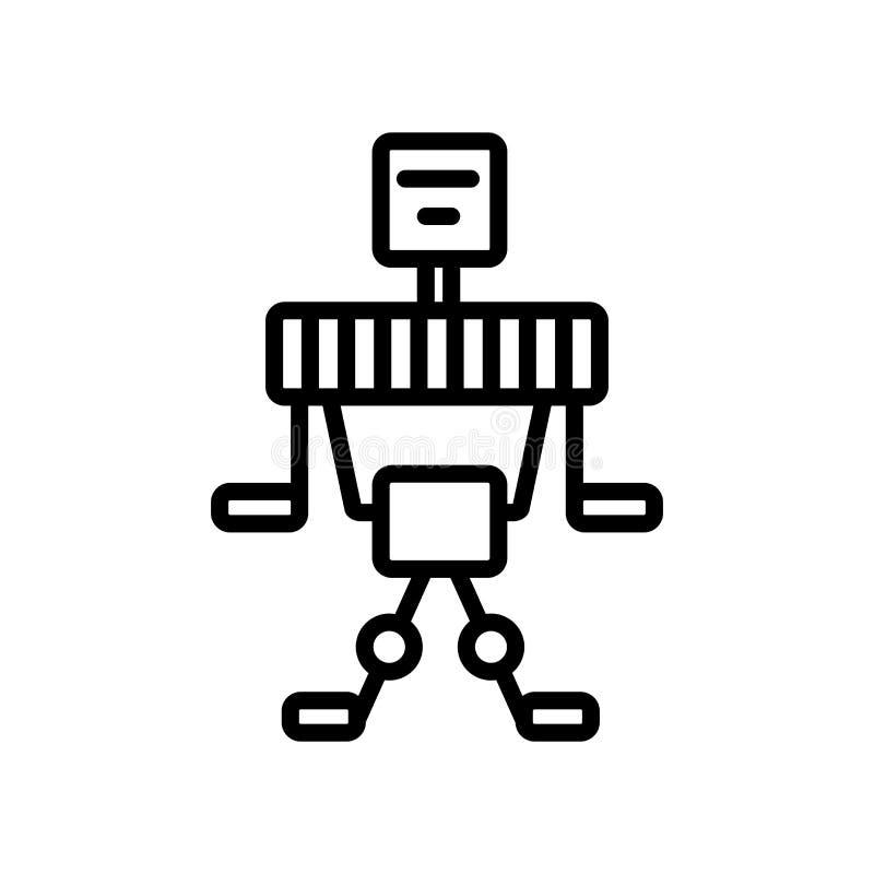 Zukunftsroman-Ikonenvektor lokalisiert auf weißem Hintergrund, Scienc stock abbildung