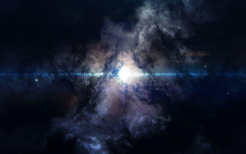 Zukunftsroman-Raumtapete, unglaublich schöne Planeten, Galaxien Elemente dieses Bildes geliefert von der NASA lizenzfreies stockbild