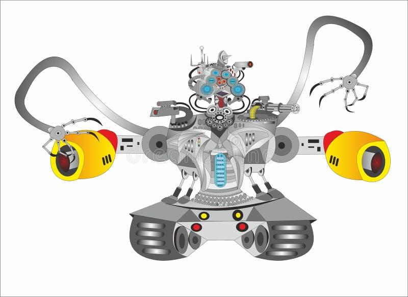 Zukunftsroman-Roboterbehälter lizenzfreie abbildung