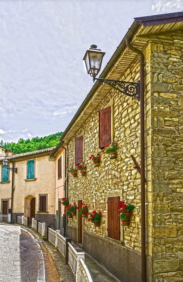 Zulke de prachtig verfraaide straten, huizen en de muren kunnen royalty-vrije stock fotografie