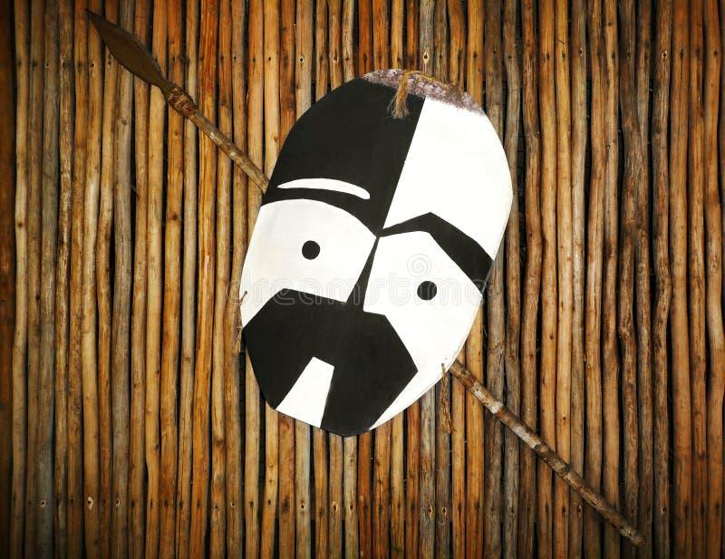 zulu ратника копья экрана стоковое изображение rf