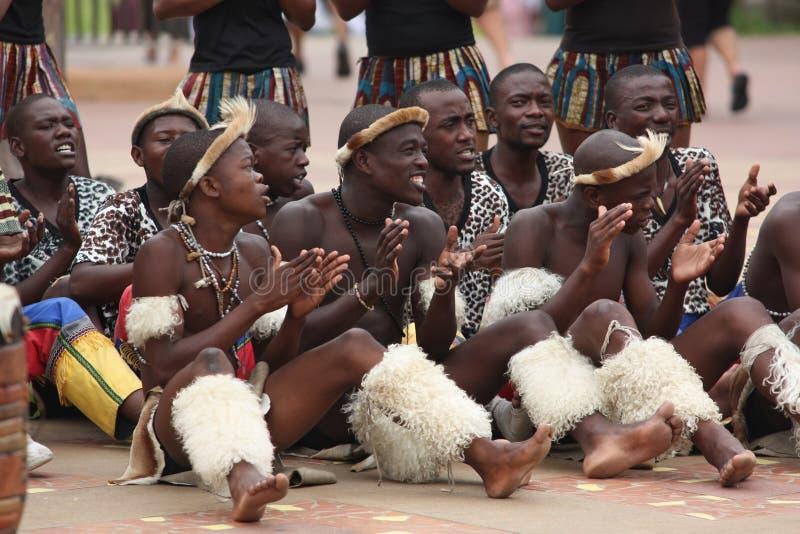 zulu танцоров стоковое изображение rf