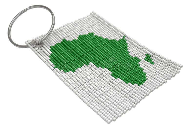 Zulu Bead Keyring illustration de vecteur