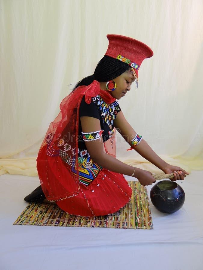 Zulu Bride images stock