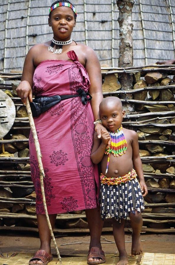 Zulu camp royalty free stock photos