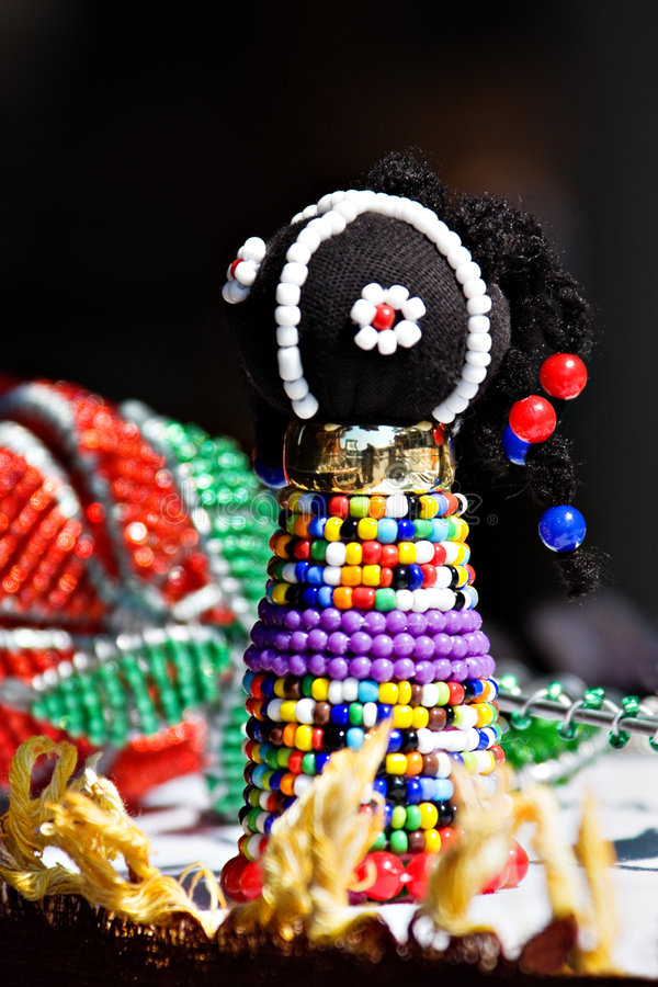 Zulu doll royalty free stock photo