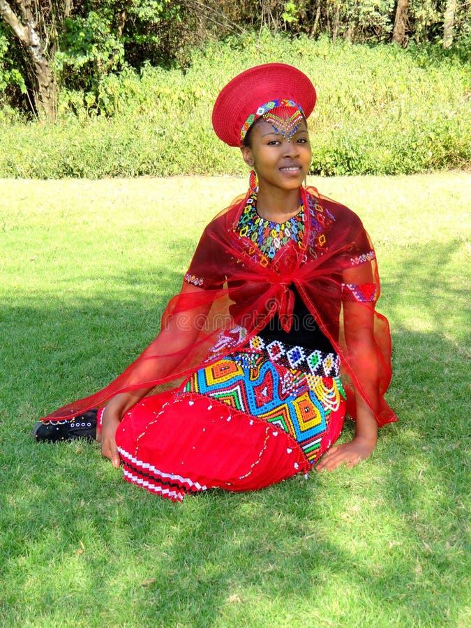 Download Zulu Maiden Bride stock image. Image of zulu, black, calabash - 55981535